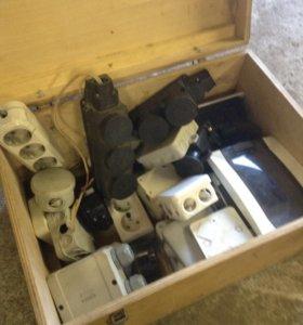 Розетки, распределительные коробки корпуса автомат
