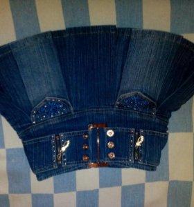Юбка джинсовая детская