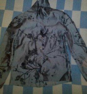 Блузка серая 146 размер
