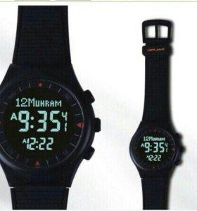 Чёрные исламские часы Al-harameen