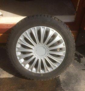 зимняя резина на дисках с колпаками для форд фокус