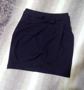 Новая чёрная юбка S-M(44-46)