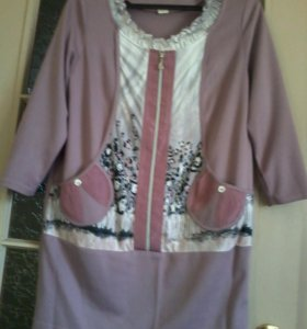 Платье---туника теплая красивая!!!