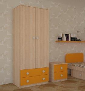 Шкаф «Жили-Были» Оранжевый (МДФ)