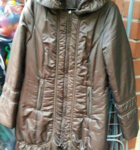 Утеплённая удлинённая куртка демисезон