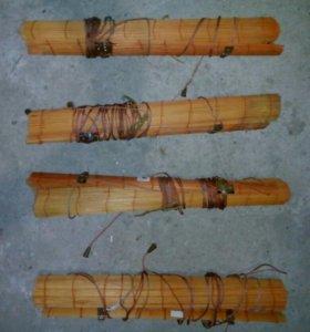 Шторы рулонные от солнца ( бамбуковые) на окна