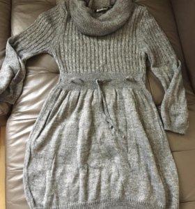 Новое вязаное платье