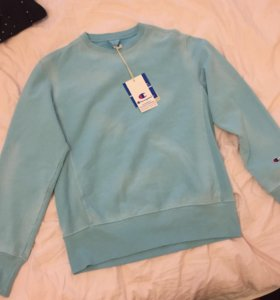 Champion garment dyed sweatshirt blue