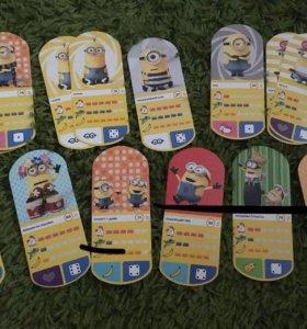 Карточки Миньоны «Гадкий я 3»