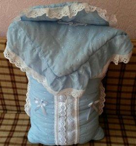 Конверт и одеяло на выписку