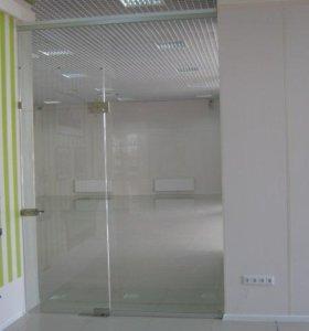 Цельно стеклянные двери и перегородки