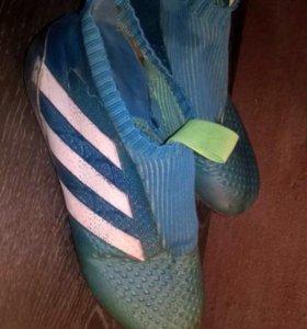 Бутсы Adidas без шнурков