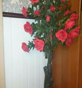 Искусственное дерево-роза