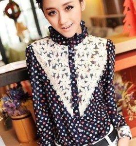 Классная блузка с кружевами