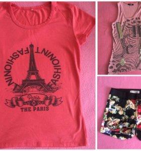 ⚡️Женская одежда:шорты,футболка, майка