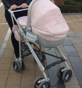 коляска cam elegant family tris 3 в 1 розовая
