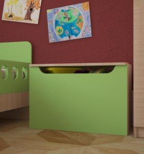 Ящик для игрушек «Непоседа» Зеленый (МДФ)