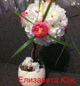 "Топиарий ""нежная роза"""