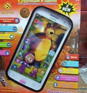 Интерактивный детский телефон 12 функций