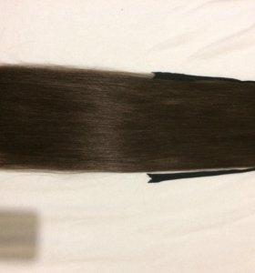 Волосы на заколке шиньон