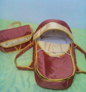 Переноска для новорожденного и сумка для мамы