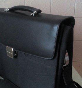 Портфель кожаный для ноутбука