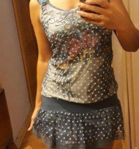 Дизайнерское платье-туника