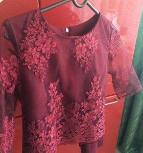 Вечерняя кофта; блузка