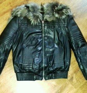 Куртка натуральная кожа утепленная