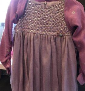 Нарядное платье для маленькой модницы с балеро