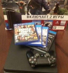 Игровая консоль PS4 1Tb + 4 игры