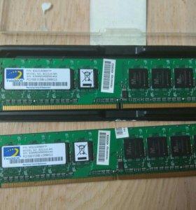 Память DDR2 2x 512Mb, 2х1Gb