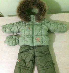 Зимний костюм для мальчика, рост 74 см.