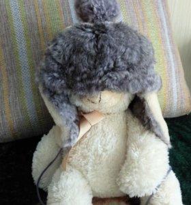 Шапка натуральная из кролика и овчины