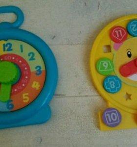 Развивающая игрушка часы, учим формы, цифры