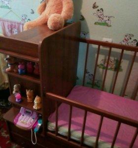 Продам детскую кроватку трансформер.