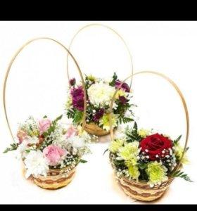 Цветы корзина