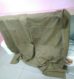 Плащ-палатка армейская образца СССР кожаные люверс