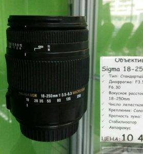 Объектив Sigma 18-250mm