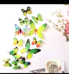 Декор бабочки для дома украшение наклейки 3D