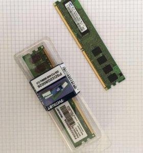 Модули памяти DDR2 - 2 GB & 1 GB