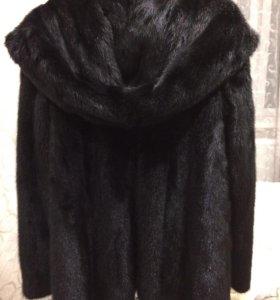 Шуба норковая с капюшоном 46-48