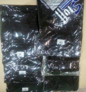 Черная футболка мужская хб