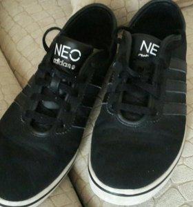 Кеды черные adidas,размер 42