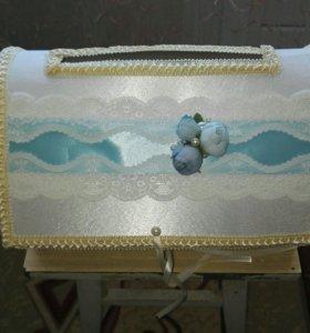 Свадебный банк, подушечка для колец, ползунки
