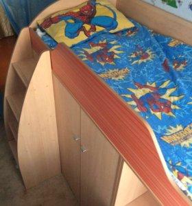 Детская кровать шкаф и стол 3 в 1