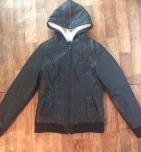 Куртка женская. кож зам, зимняя.