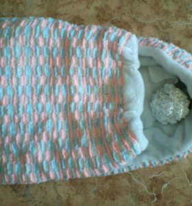 Конверт на выписку для новорожденного ручной работ
