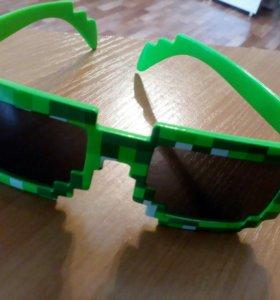 Классные очки из игры *Майнкрафт
