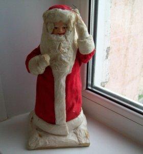Дед Мороз (папье-маше)-ватный.